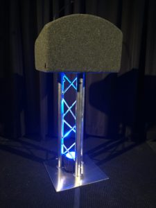 Truss Lectern with blue light