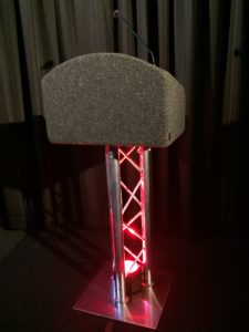 Truss Lectern with red light
